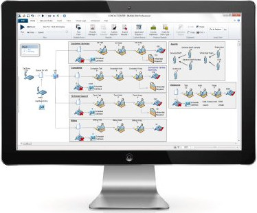 Contact center simulation software screenshot