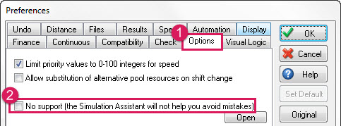 Simul8 Assistant - No Support