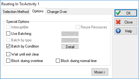 Routing In Use Batch By Condition Option Dialog Example