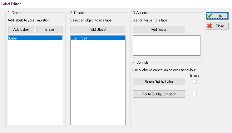 Label Editor Adding an Object