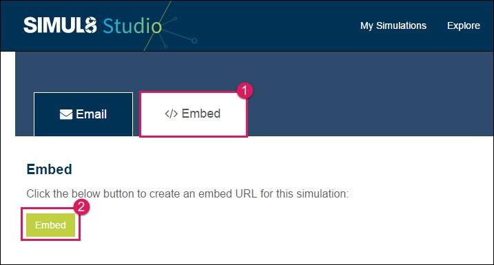 Generate an Embed Code - Simul8 Studio