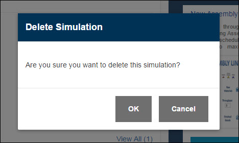 Confirm Simulation Deletion - Simul8 Studio