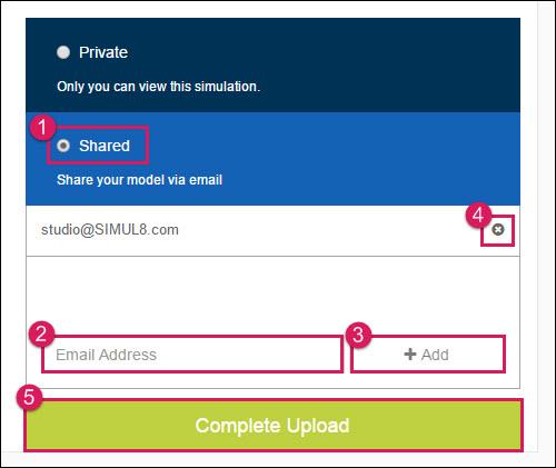 Sharing Options - Simul8 Studio