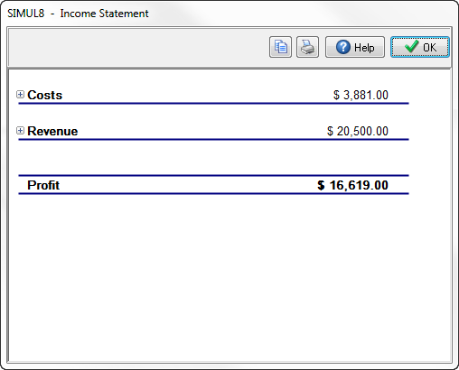 Income statement simul8 resource center the income statement opened at summary level altavistaventures Gallery