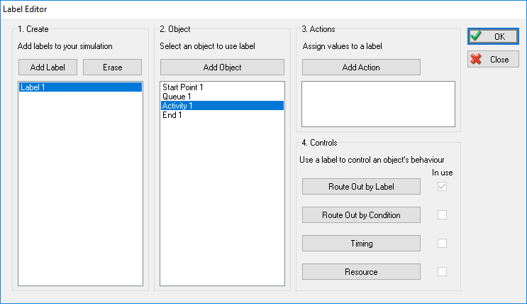 Label Editor Adding a Control