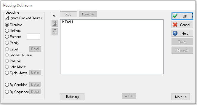 Routing Out Dialog