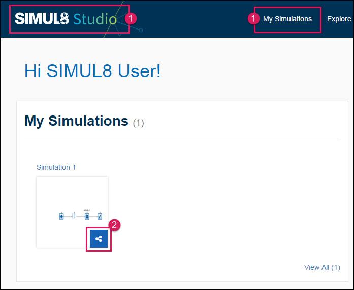 Share Settings of a Simulation - SIMUL8 Studio