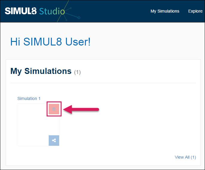 Deleting a Simulation - SIMUL8 Studio