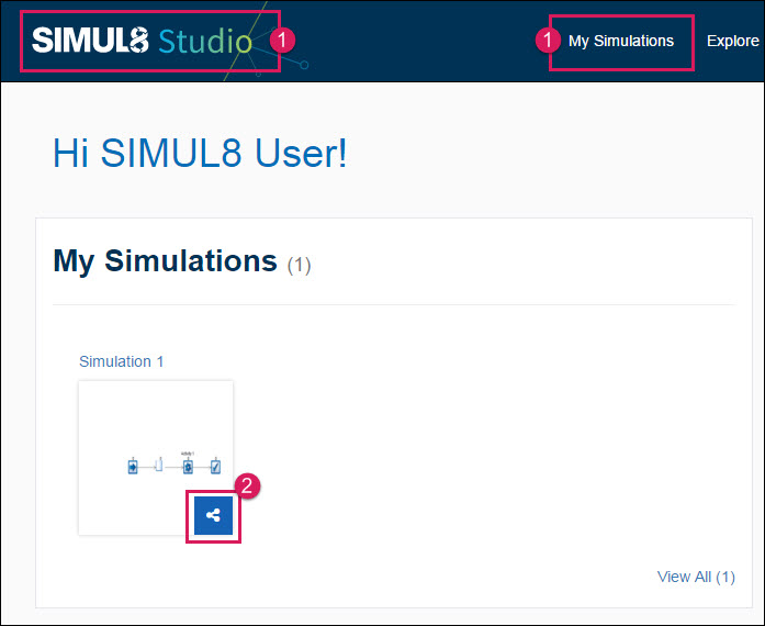 Sharing a Simulation - SIMUL8 Studio