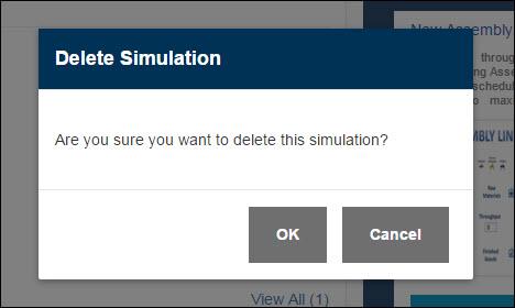 Confirm Simulation Deletion - SIMUL8 Studio
