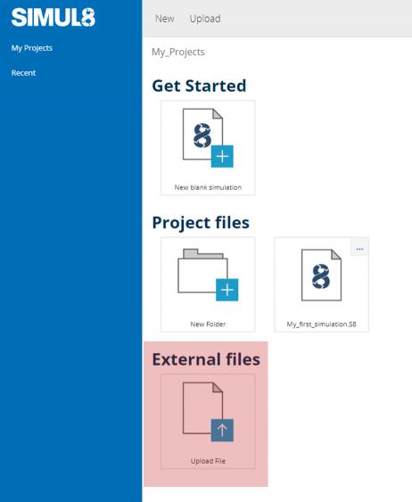 Upload External files