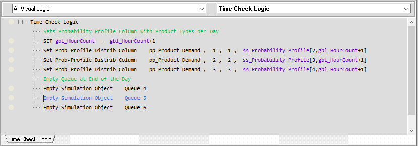 Time Check Visual Logic command