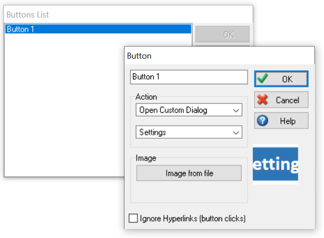 Simul8 Dialogs with Buttons