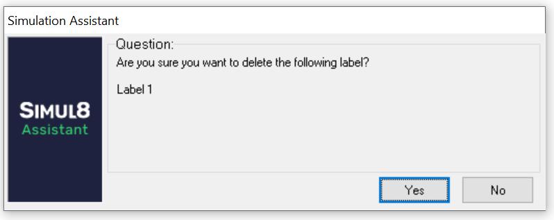 Simul8 really delete Label