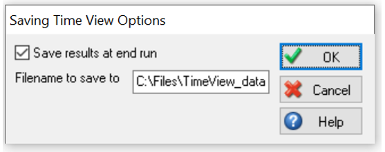 Simul8 Timeview Save Results on End Run Path