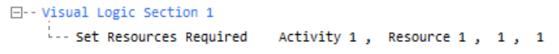 Visual logic syntax commas
