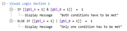 Simul8 VL syntax IFs